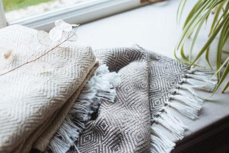 Two Weaver Green Blankets