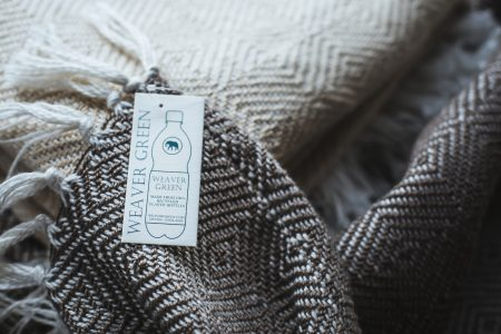 Weaver Green Blanket and Label