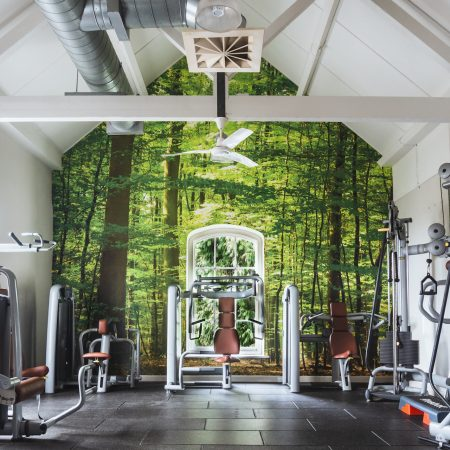 10 ways to bring the outside in - modern nature design ideas. Combe Grove Gym Biophilic design Wall