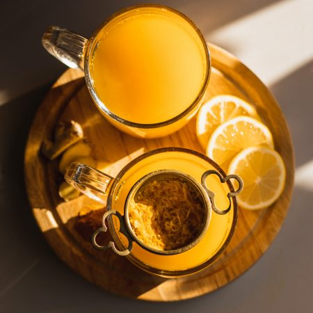 Turmeric, Ginger and Lemon Immunity-Boosting Tea, Two Cups