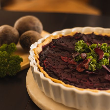 Vegan and gluten-free beetroot tart recipe